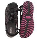 Lds Colette blk fisherman sport sandal