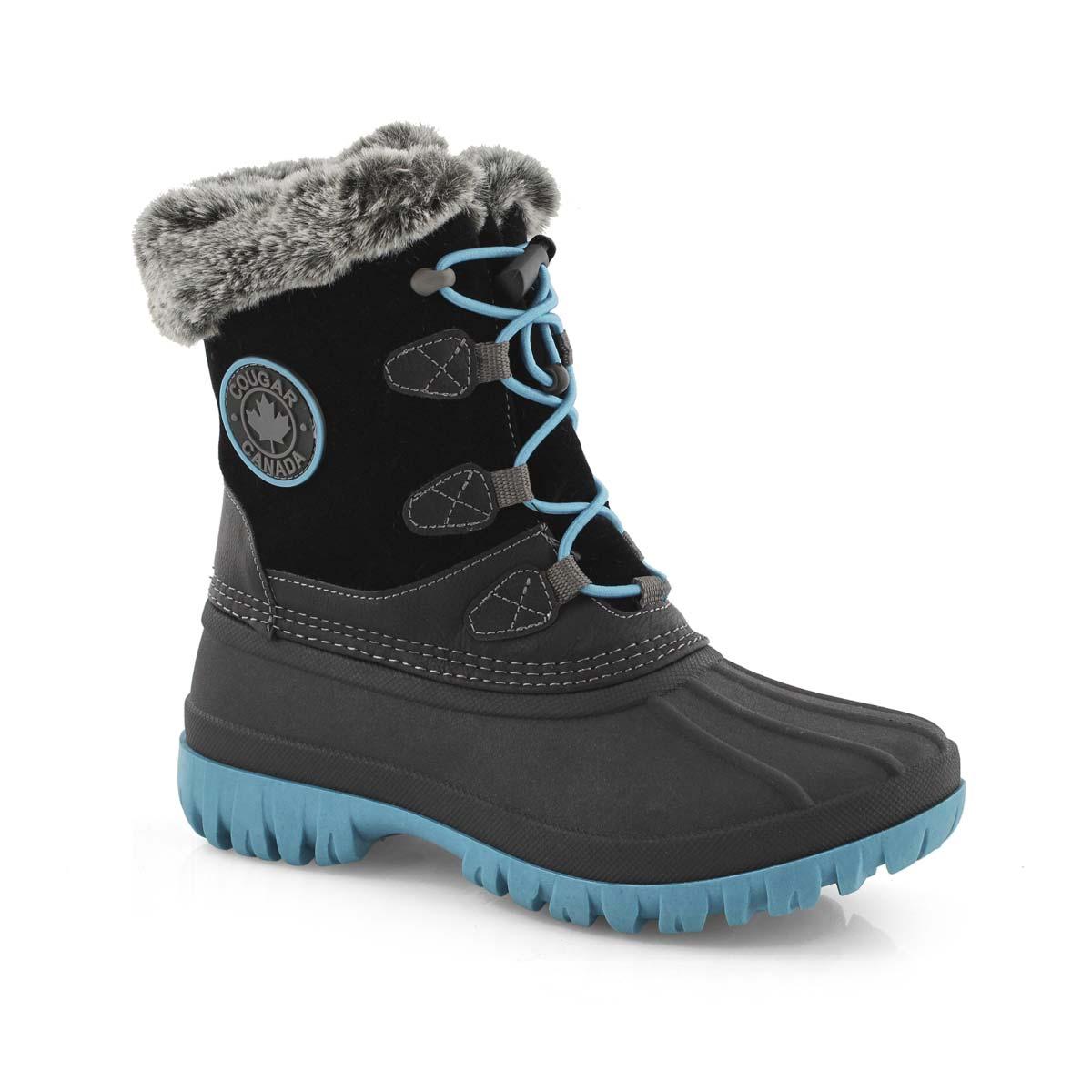 Grls Colette black wtpf winter boot