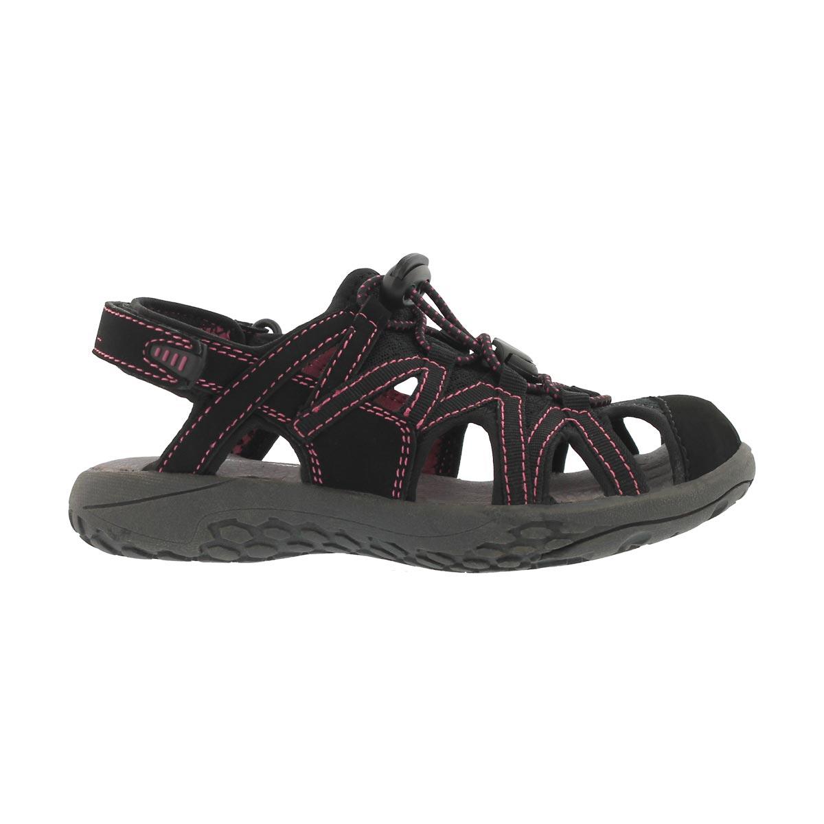 Grls Colette Jr blk fisherman sandal