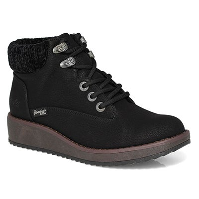 Lds Comet blk casual lace up ankle boot