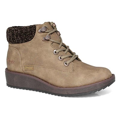 Lds Comet taupe casual laceup ankle boot