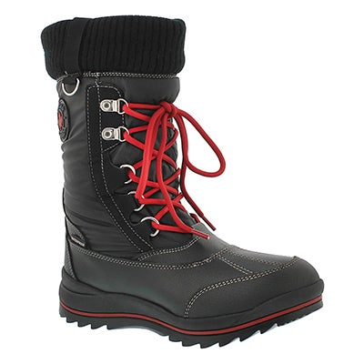 Lds Como blk wtprf pull on winter boot