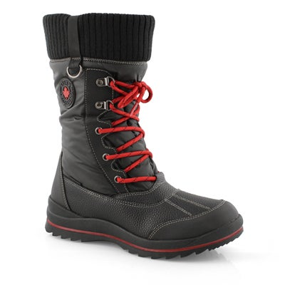 Lds Comos blk waterproof winter boot