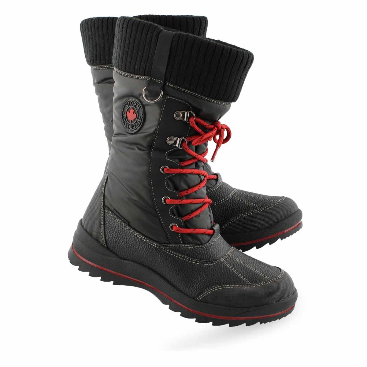 Lds Comos blk waterproof winter boot