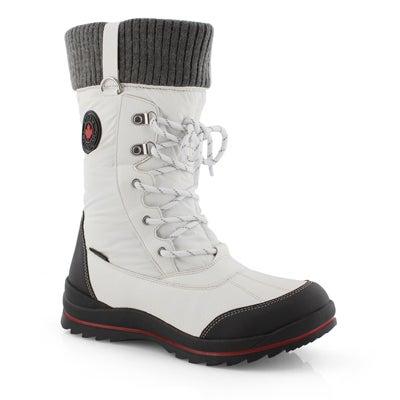 Lds Comos wht waterproof winter boot