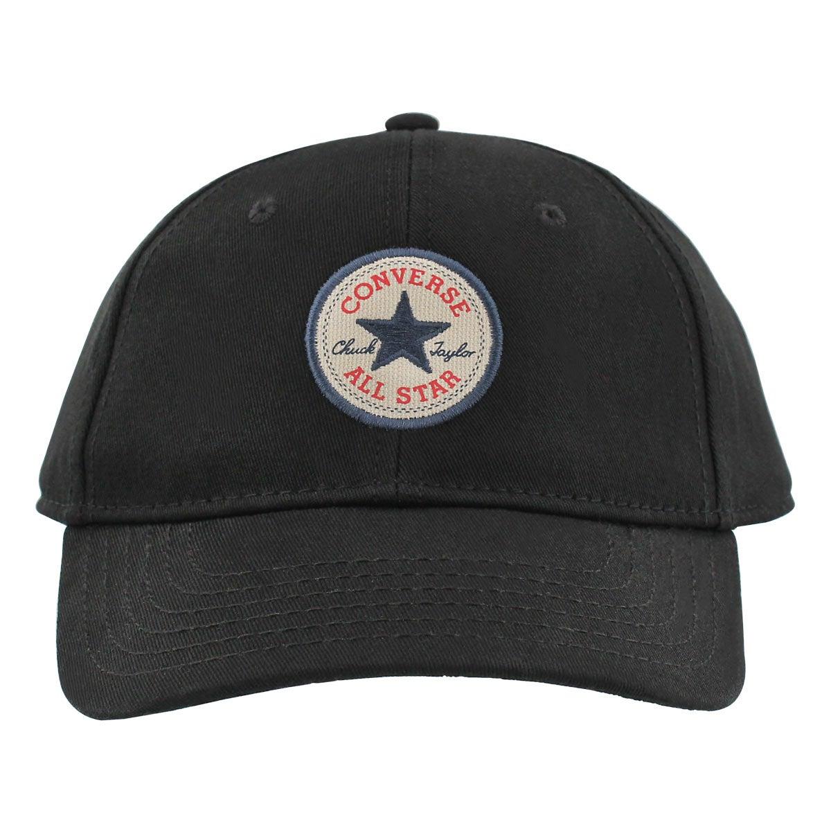 Women's CORE black adjustable precurve cap