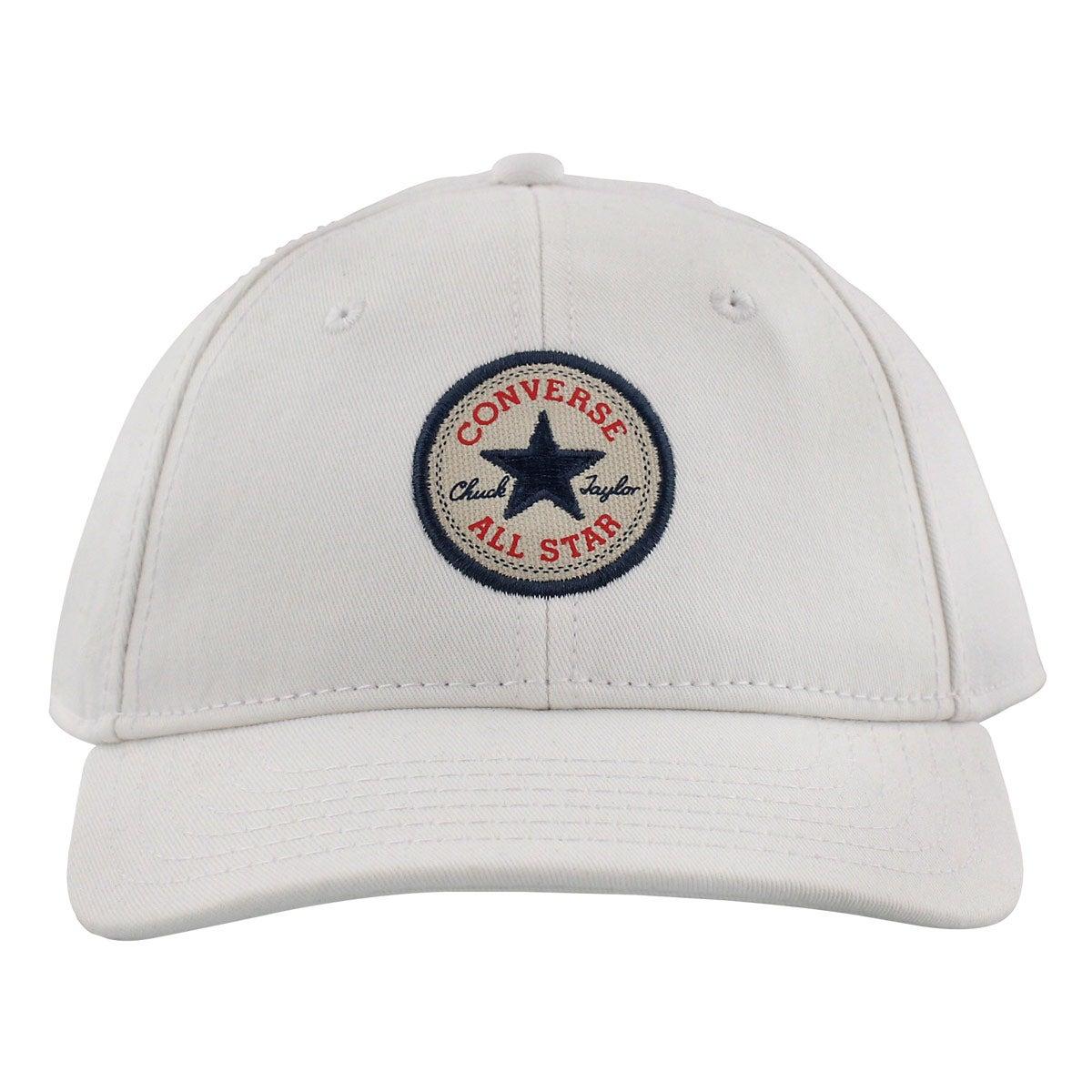 Women's CORE white adjustable precurve cap