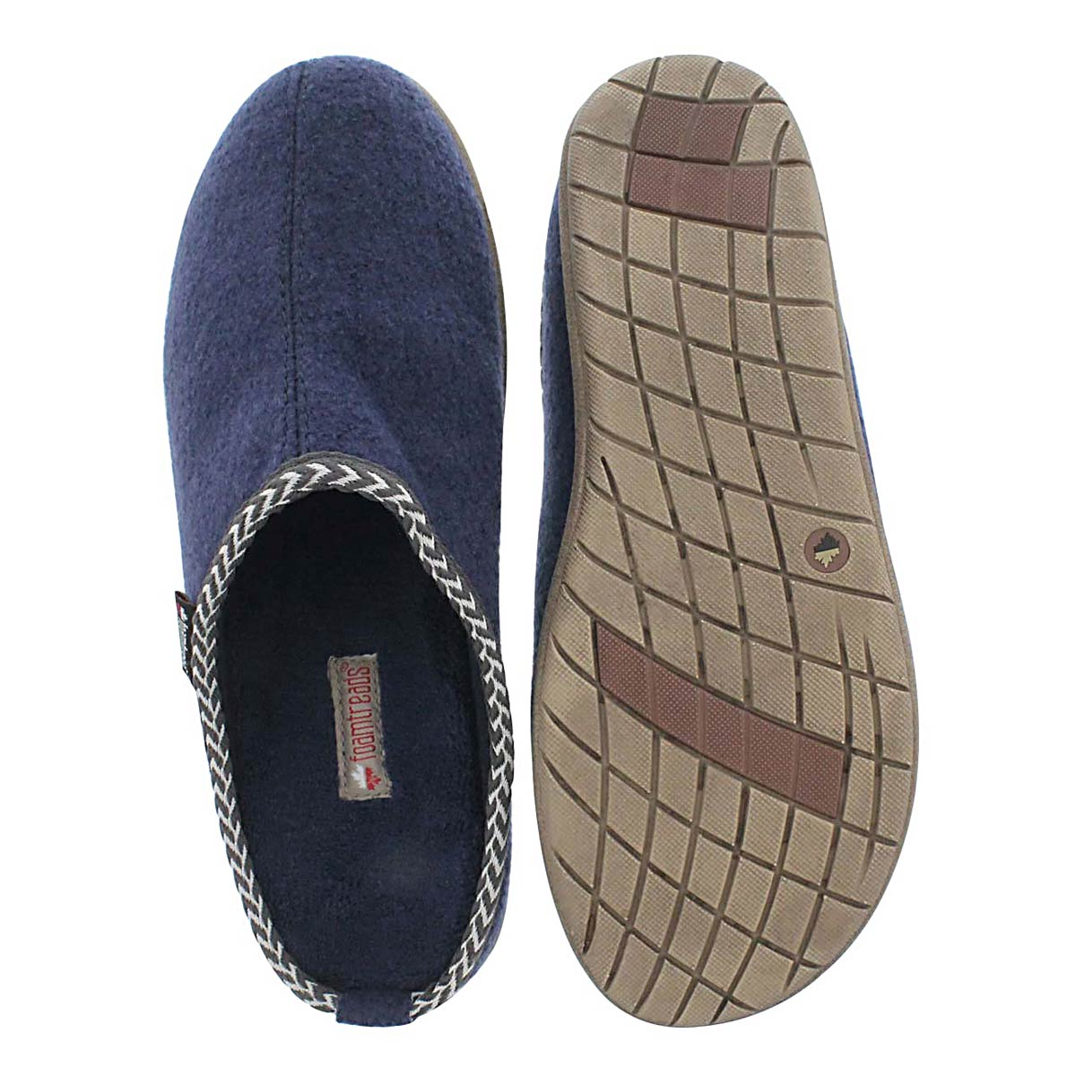 Mns Concord navy open back slipper