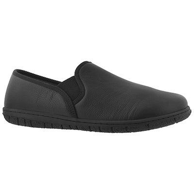 Mns Conrad blk mem foam clsd bck slipper