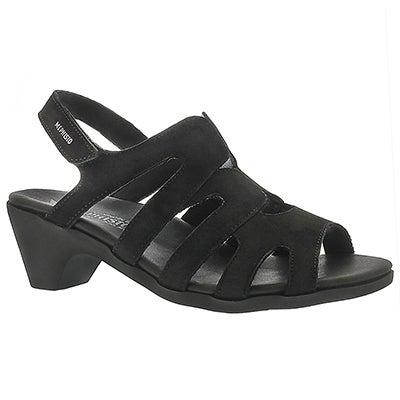 Lds Coralie black sling back sandal