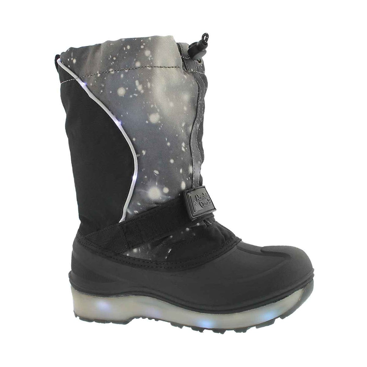 Boys' COSMOS grey waterproof light up winter boots