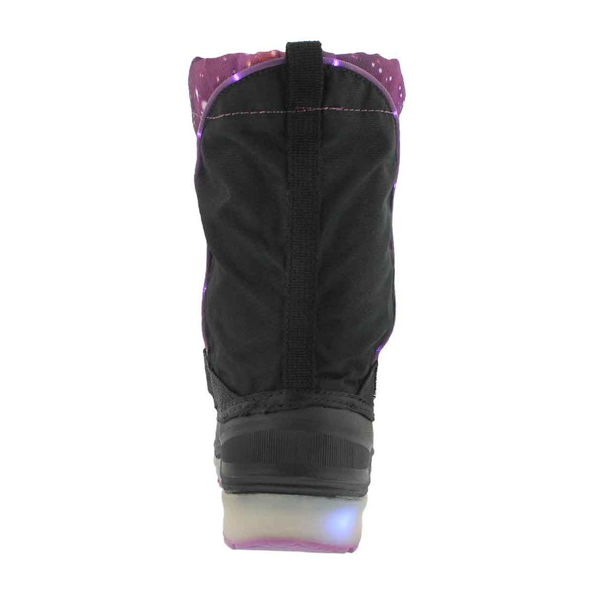 Grls Cosmos ppl wp light up winter boot