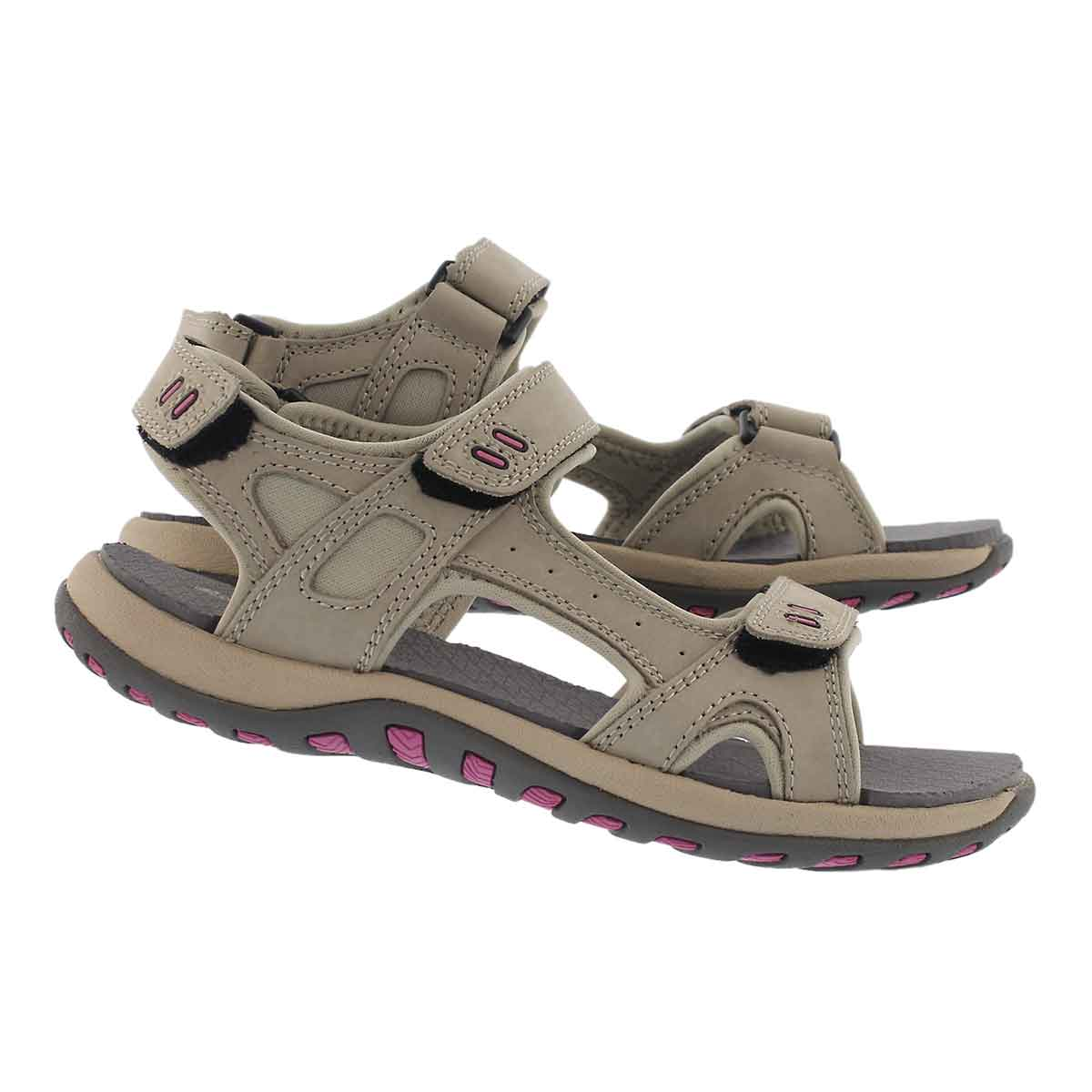 Lds Courtney stone 3 strap sport sandal