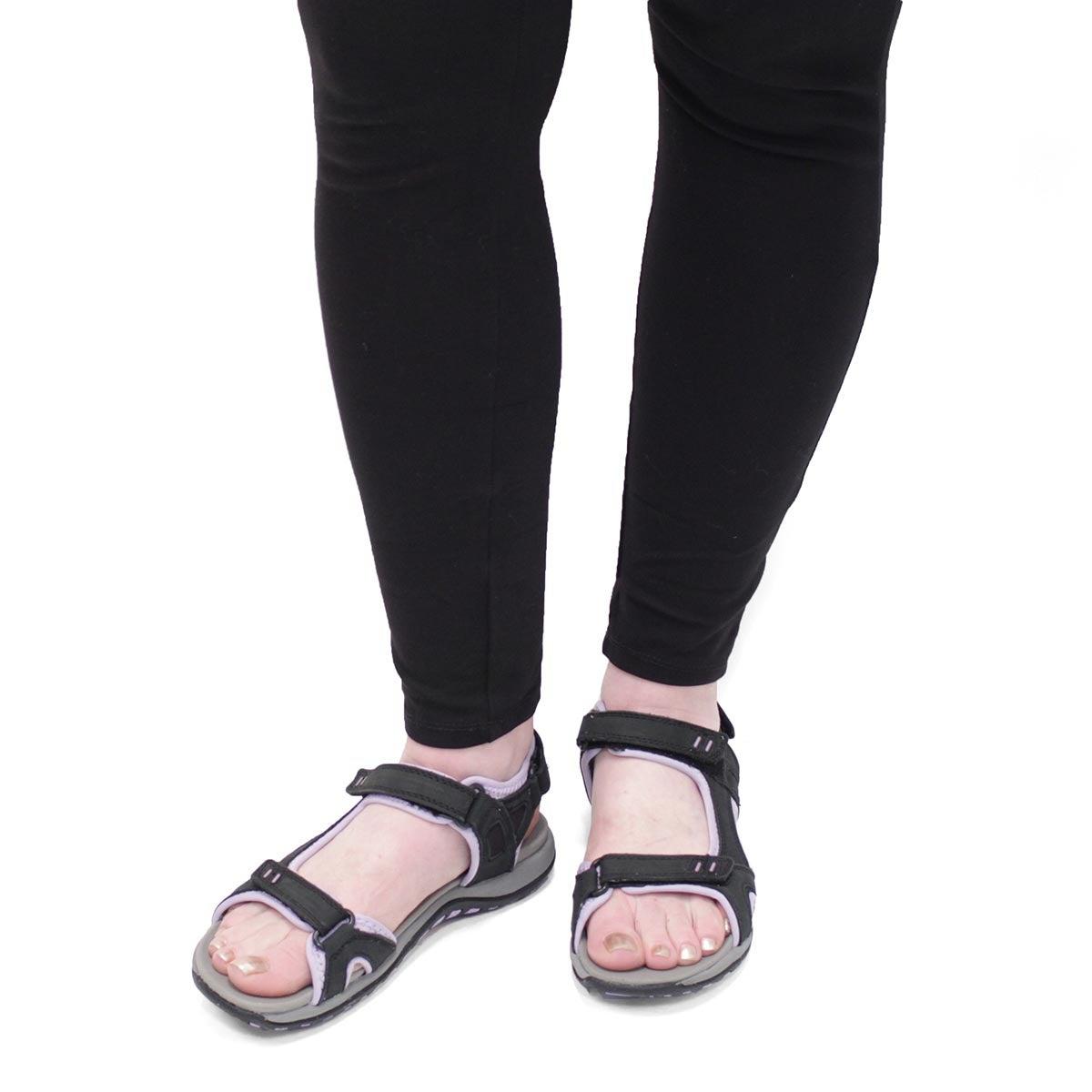 Lds Courtney 2 black 3 strap sport sndl