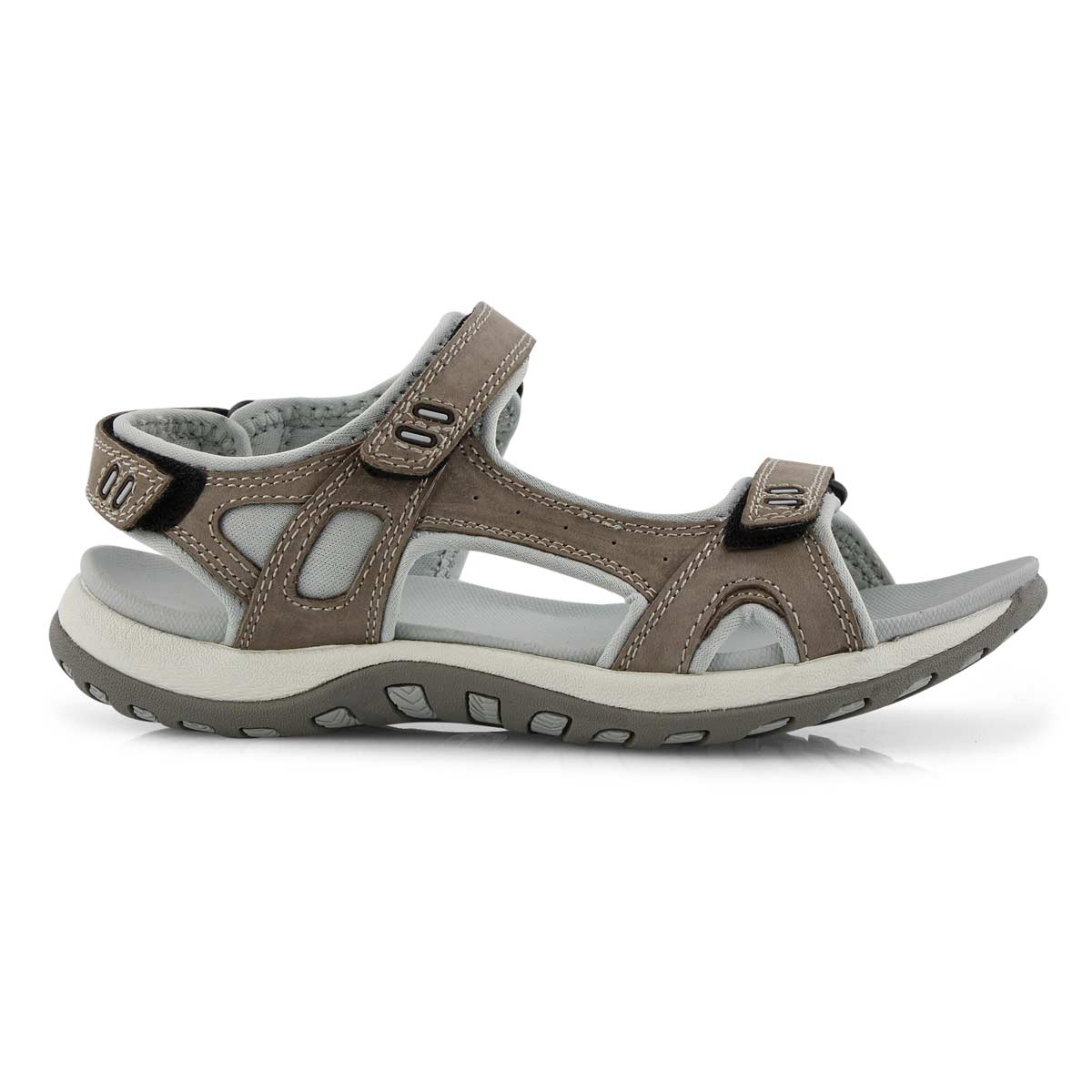 Lds Courtney 2 grey 3 strap sport sandal