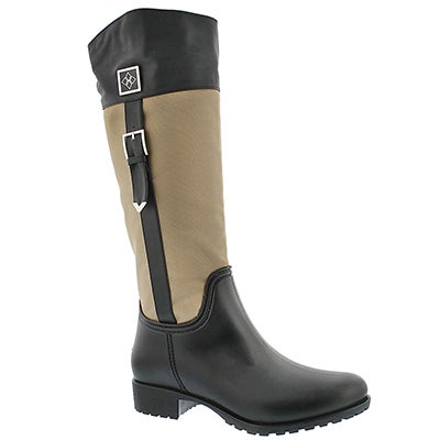 Lds Coventry Nylon khaki tall rain boot