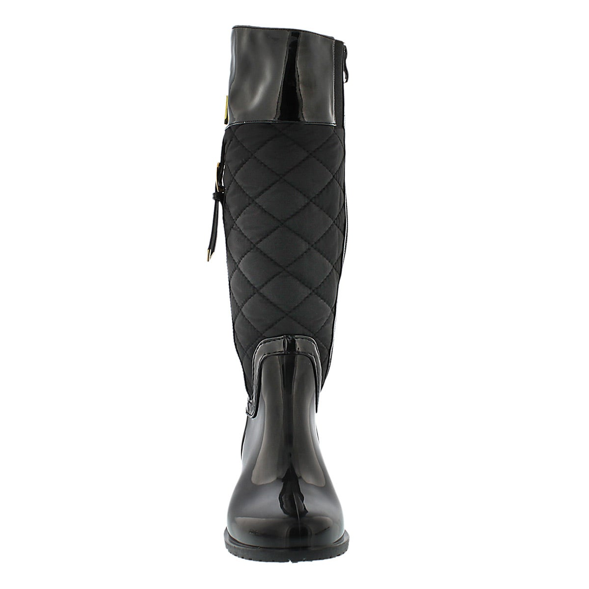 Lds Coventry Quilted blk tall rain boot