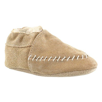 Robeez Infants' COZY MOCCASIN camel soft sole slippers
