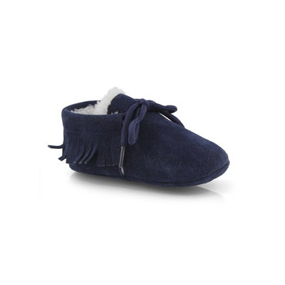 Infs Cozy Moc navy slipper bootie