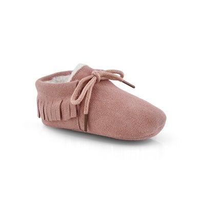 Infs-g Cozy Moc pink slipper bootie