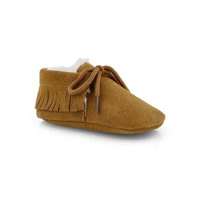 Infs Cozy Moc sand slipper bootie