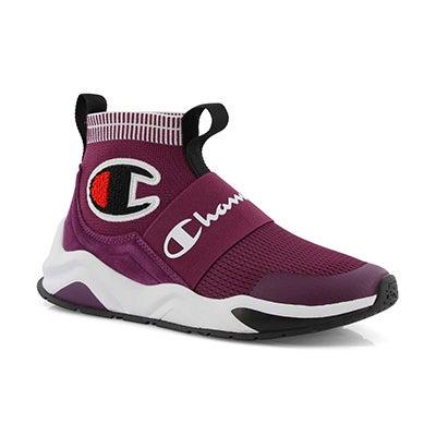 Grls Rally Pro purple slip on sneaker