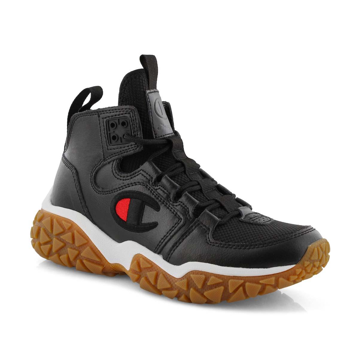 Kds Tank Grid black lace up sneaker