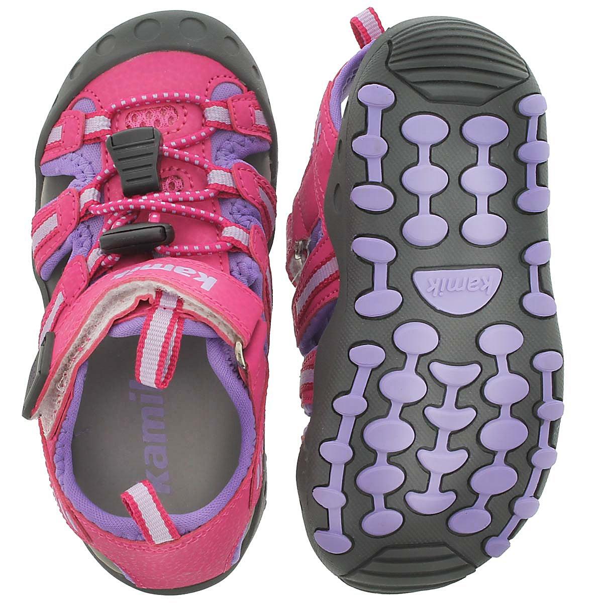 Infs Crab fuchsia closed toe sandal