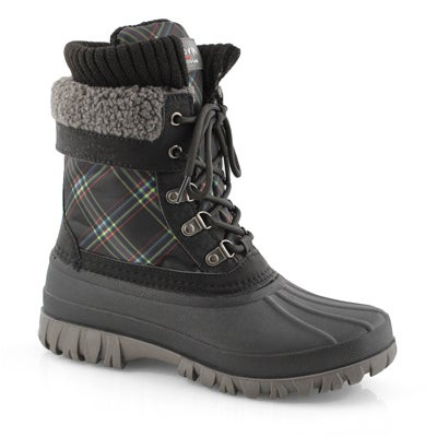 Lds Creek blk bright pld wp winter boot