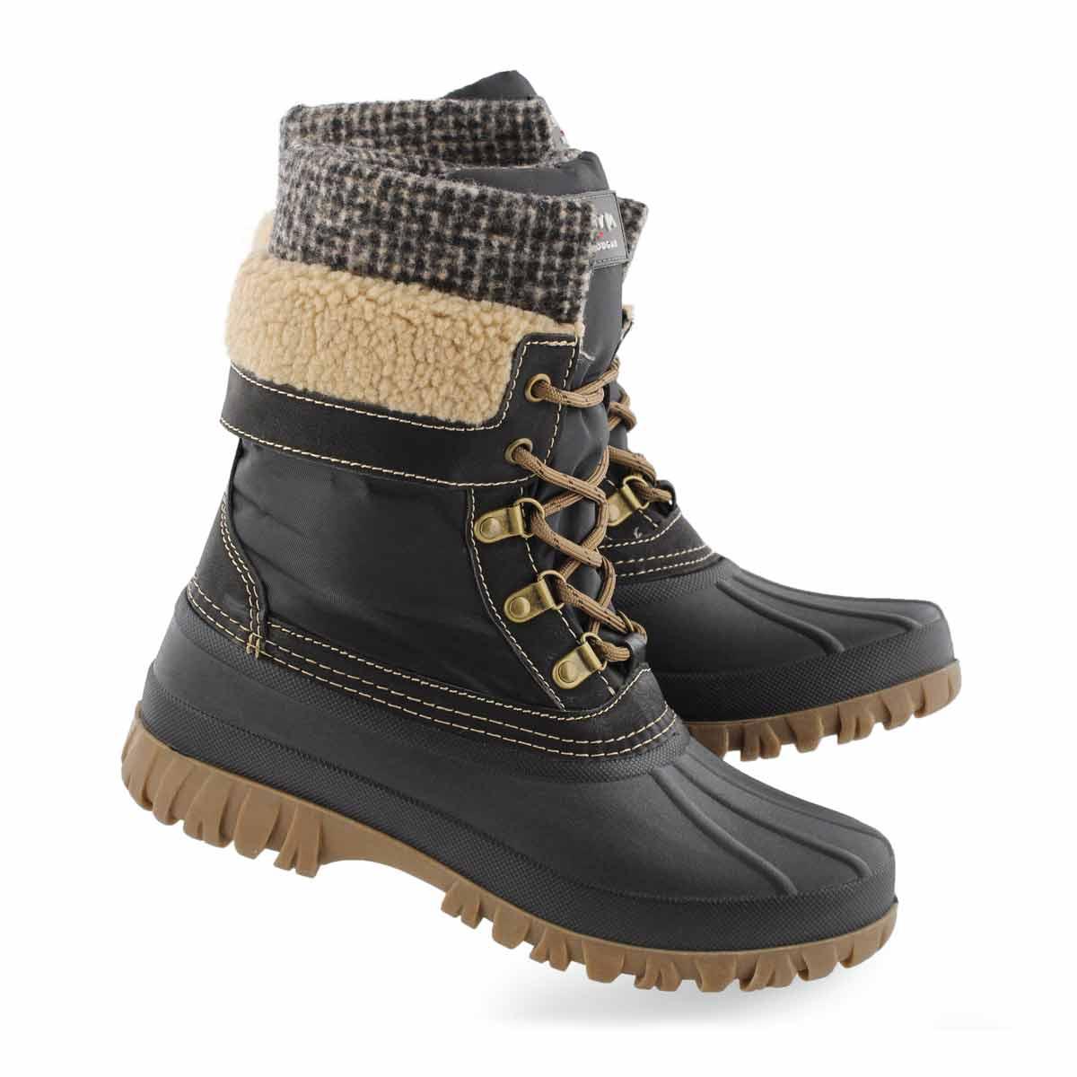 Lds Creek blk tweed wtpf winter boot