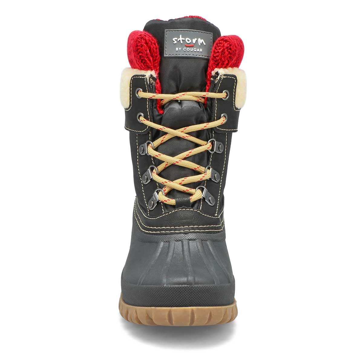Lds Creek lace up black wtpf winter boot
