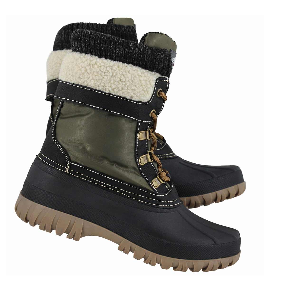 Lds Creek lace up khaki wtpf winter boot