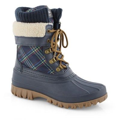 Lds Creek nvy bright pld wp winter boot