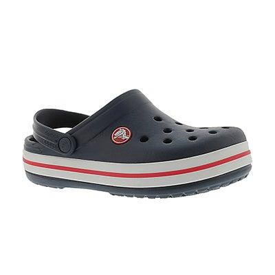 Crocs Kids' CROCBAND navy EVA comfort clogs