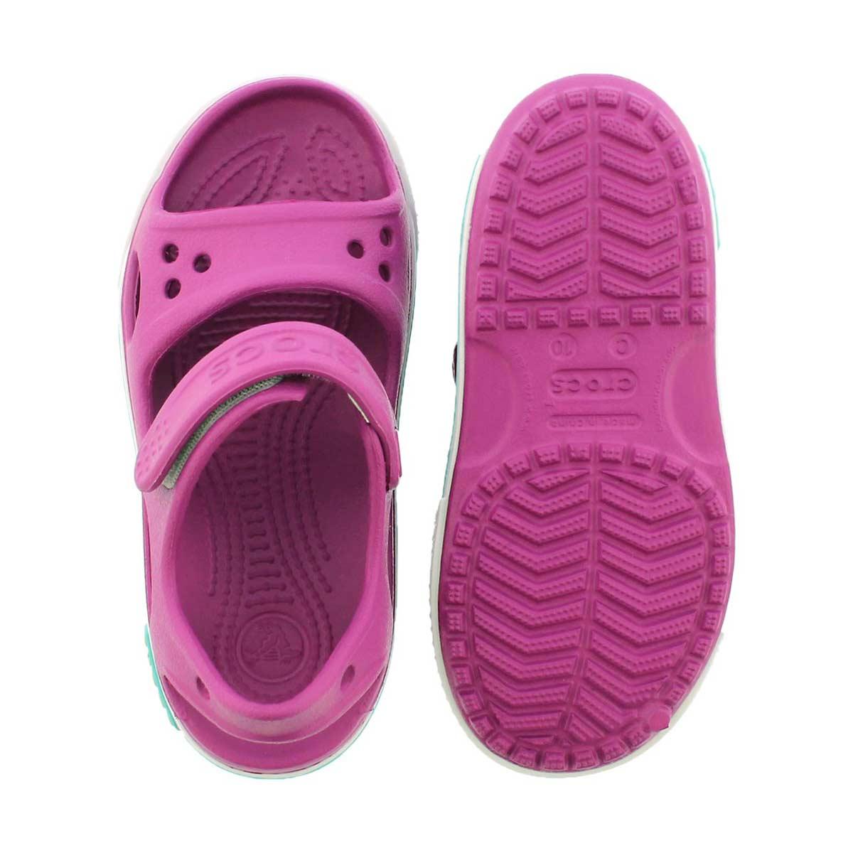 Grls Crocband II violet sport sandal