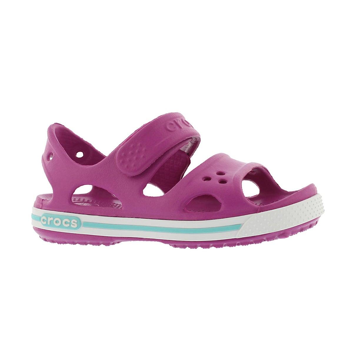 Girls' CROCBAND II violet sport sandals