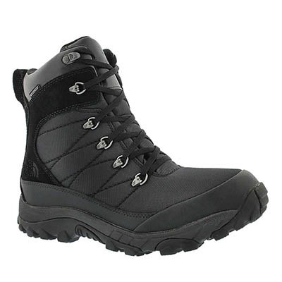 The North Face Men's CHILKAT NYLON waterproof black winter boots