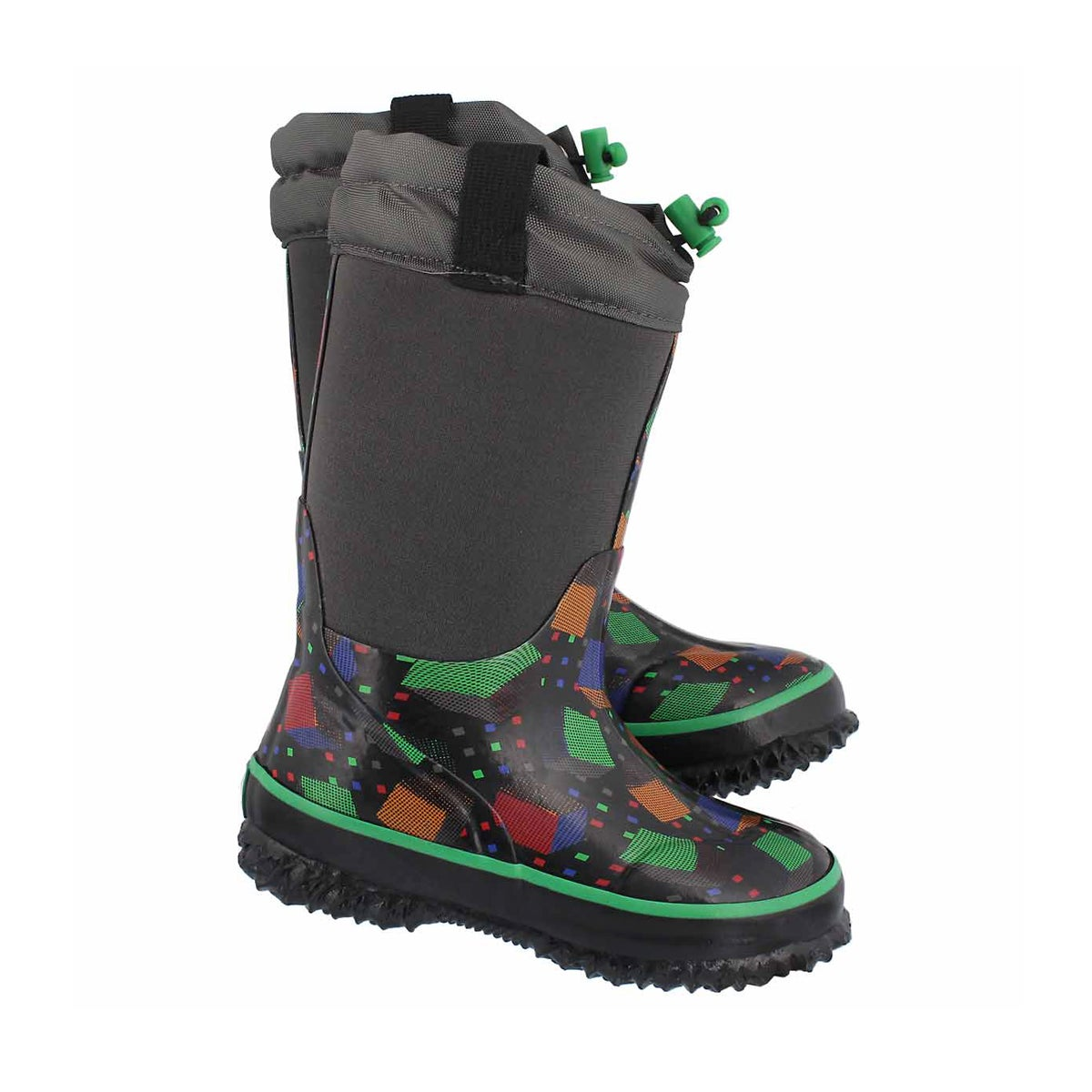 Bys Cubes blk wp pull on winter boot