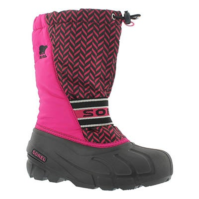 Sorel Girls' CUB GRAPHIC 15 pink winter boots