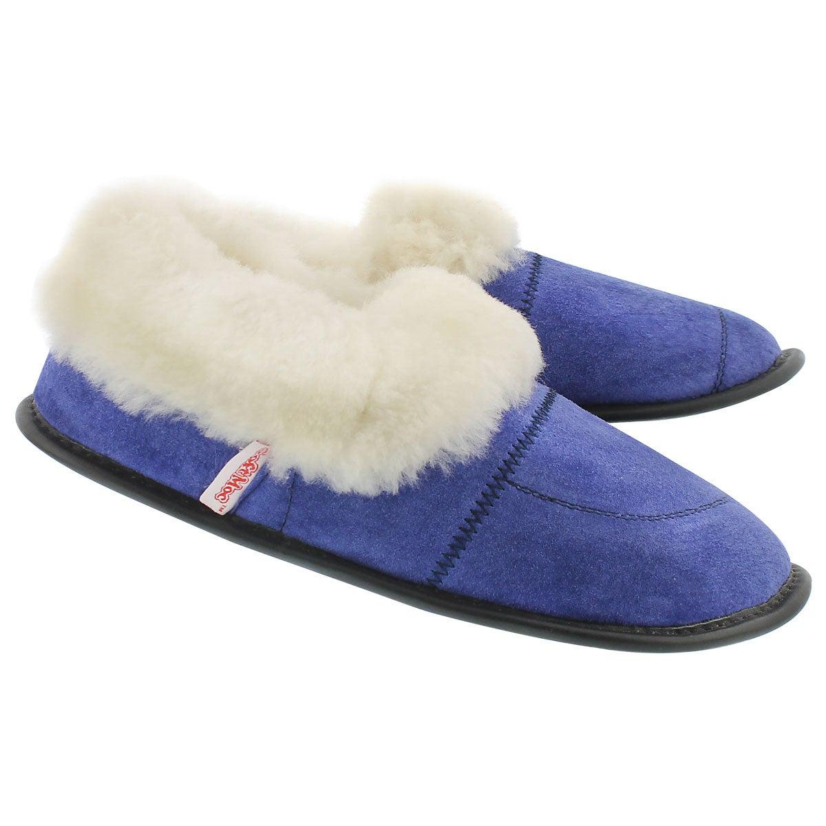 Lds Cuff blue washable sheepskin
