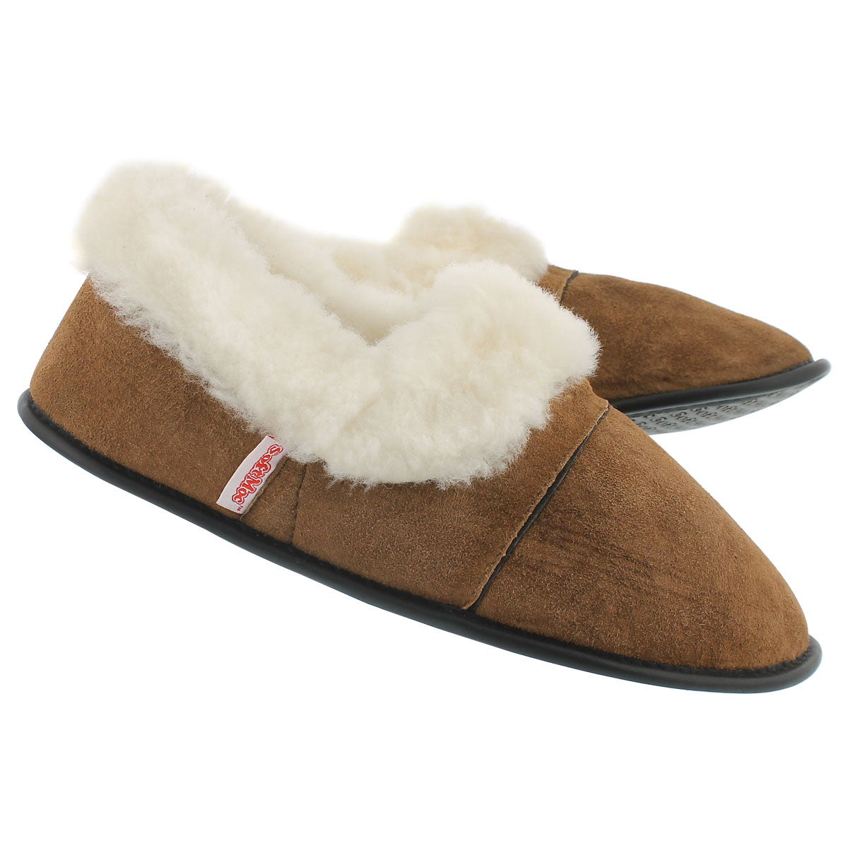 Men's CUFF washable sheepskin & suede slippers