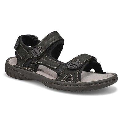 Mns Cullen black hook and loop sandal