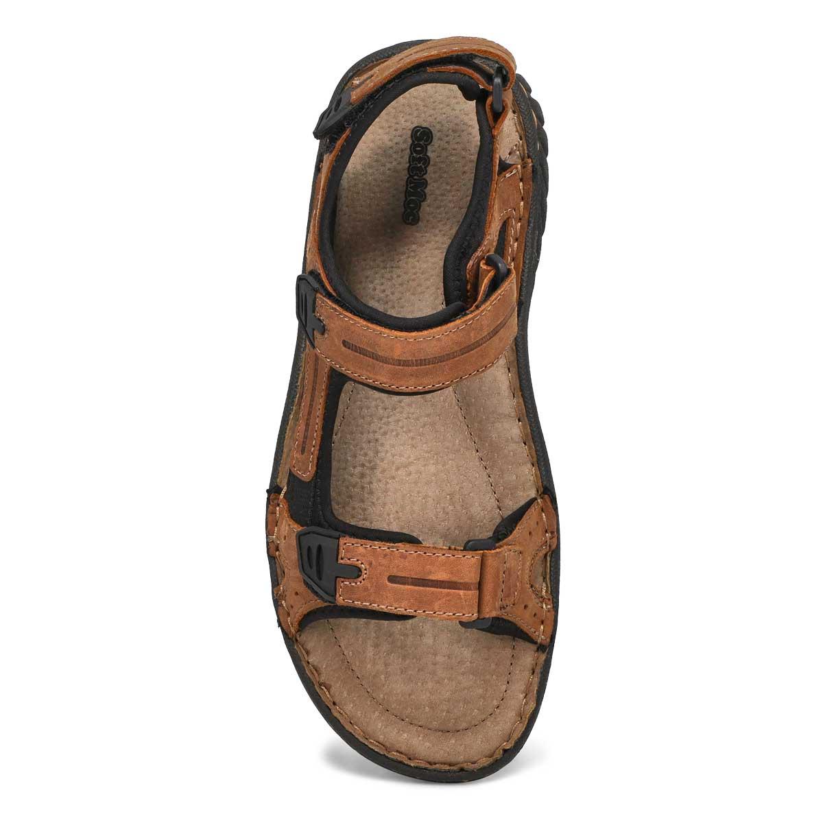 Mns Cullen brown hook and loop sandal