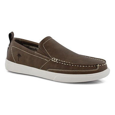 Mns Current brown leather casual slip on