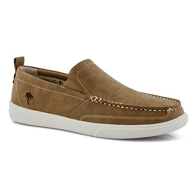 Mns Current tan leather casual slip on