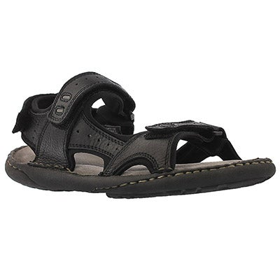 Mns Curtis II black 3 strap sandal