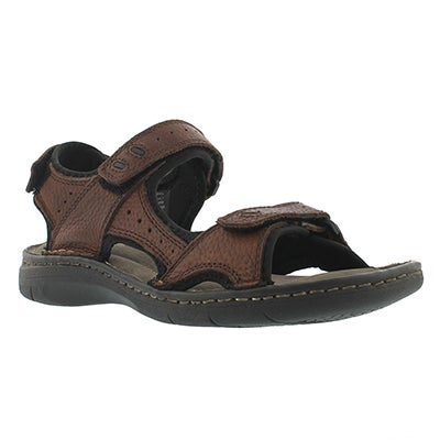 SoftMoc Men's CURTIS 3 brown 3 strap sandals