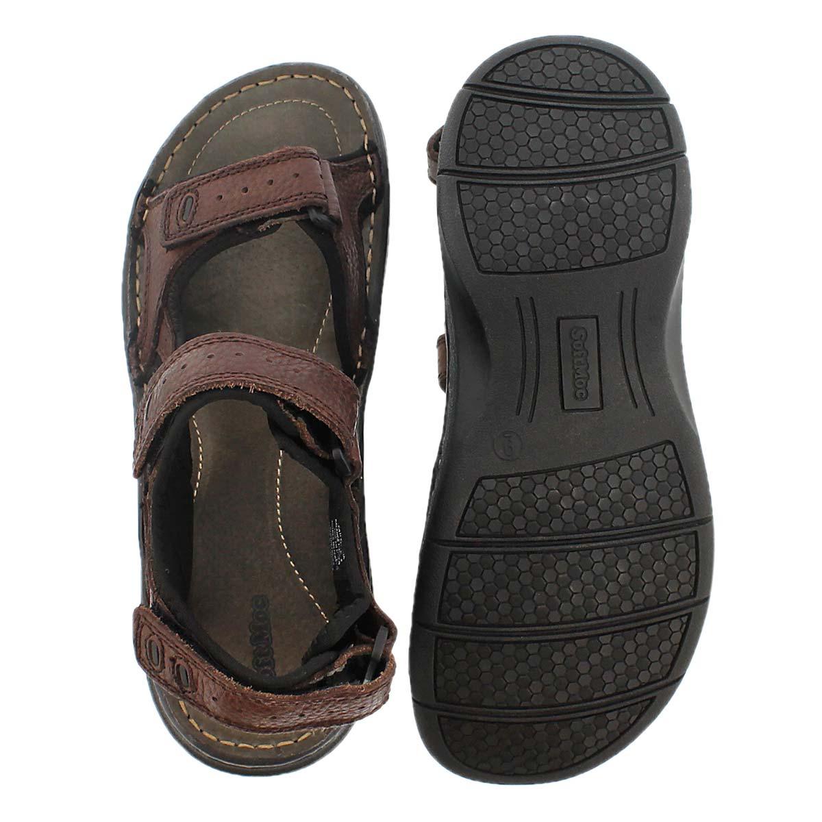 Mns Curtis 3 brown 3 strap sandal
