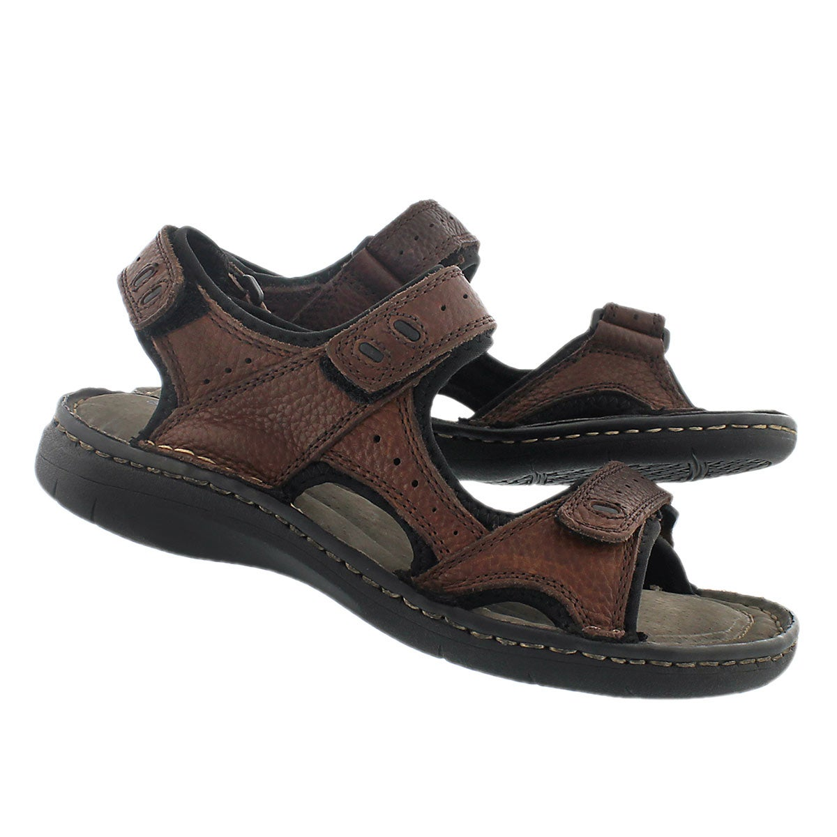 Mns Curtis 3 brown 3 strap sandal
