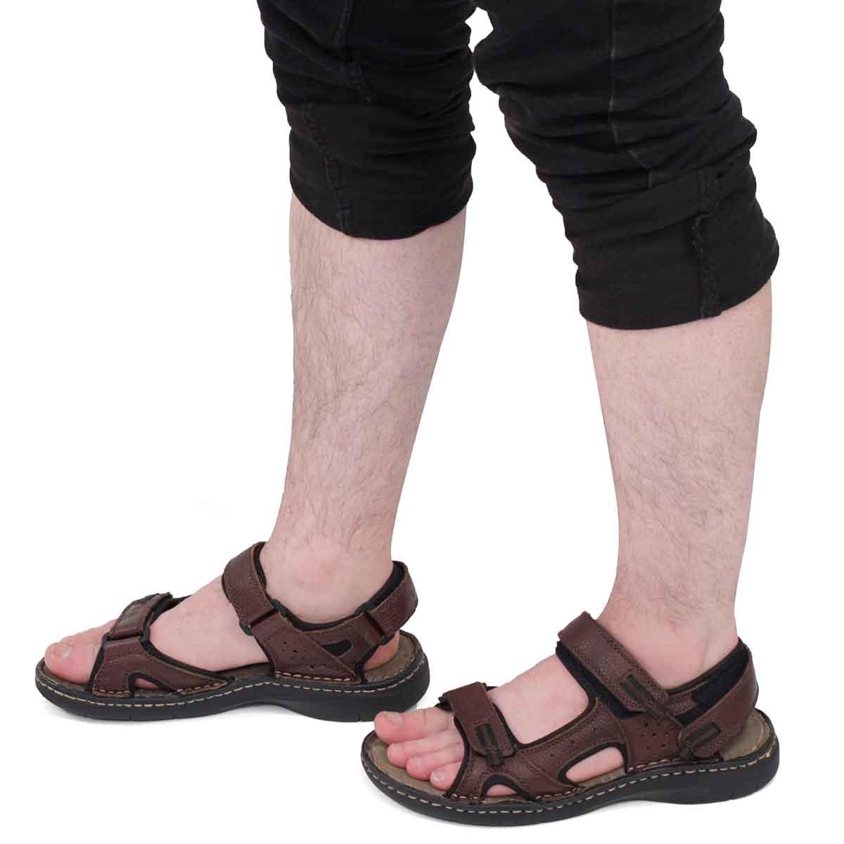 Mns Curtis 4 dk brn 3 strap sandal